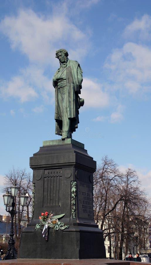 Alezander Pushkin, статуя стоковые фото