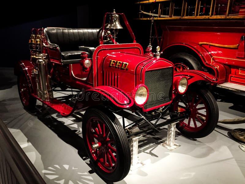 1919 - ALF/Ford modela T Chemiczny samochód w muzeum fotografia stock