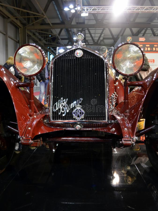 Alfa罗密欧8c特写镜头 免版税库存图片
