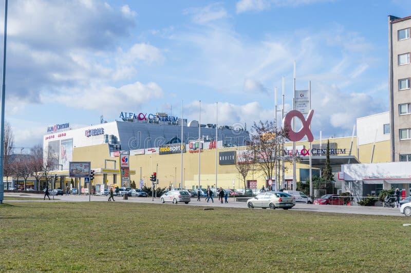 Alfa Centrum shopping mall. Gdansk, Poland - March 14, 2019: Alfa Centrum shopping mall stock photography