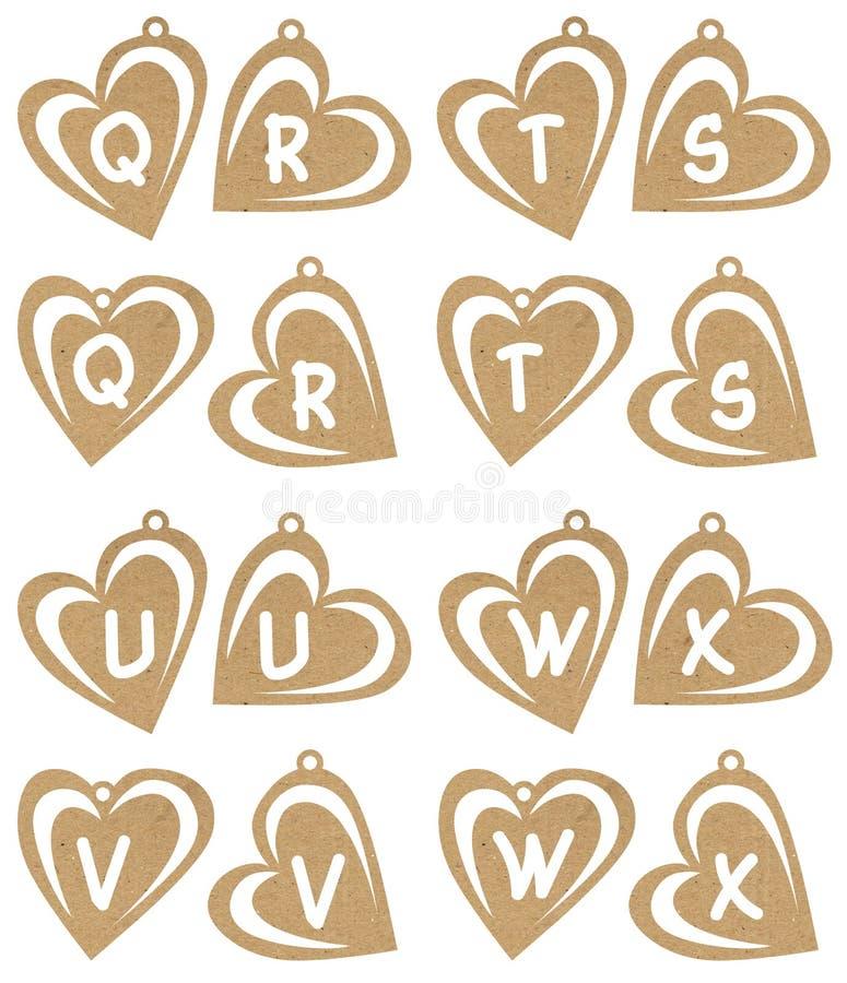 Alfa del corazón stock de ilustración