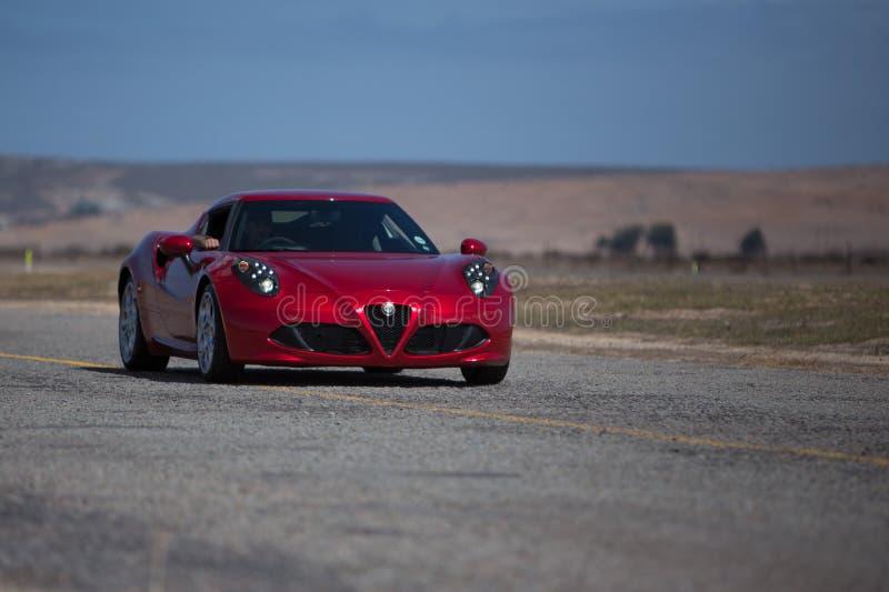 Alfa marrone rossiccio Romeo Sportscar immagini stock libere da diritti