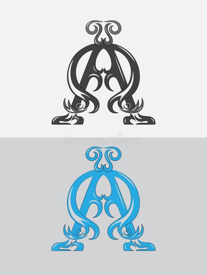 Alfa Omega illustrazione di stock