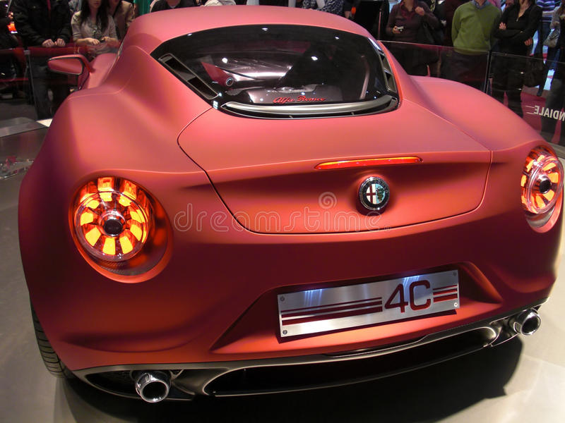 Download Alfa Romeo 4C editorial photography. Image of famous - 18858962
