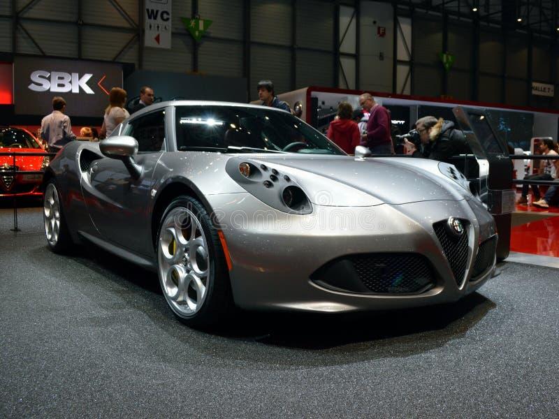 Alfa Romeo 4C fotografia de stock royalty free