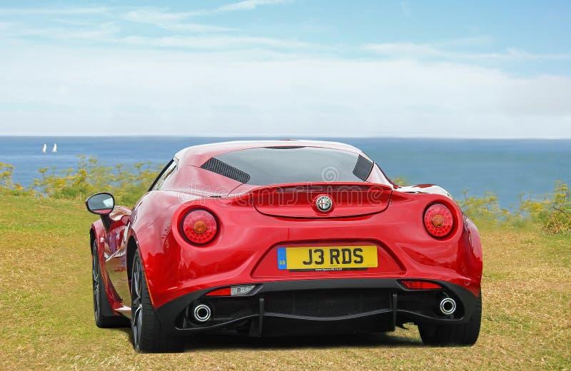 Alfa romeo 4c sportscar imagem de stock royalty free