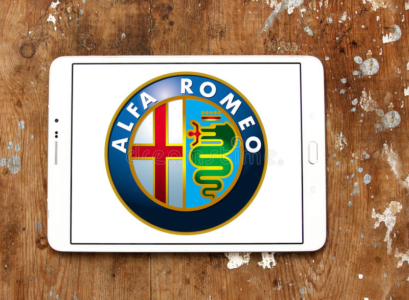 Alfa romeo car logo stock images