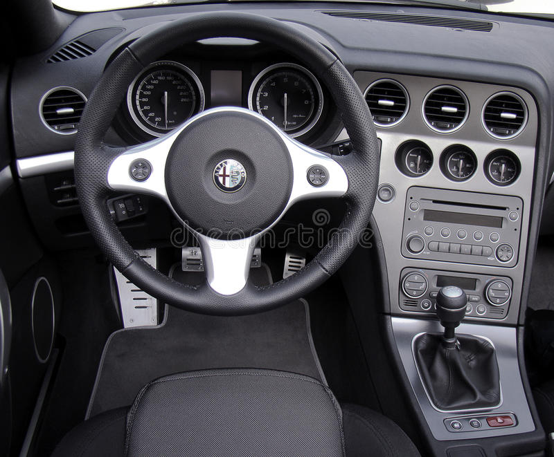 Alfa Romeo cockpit royalty free stock image