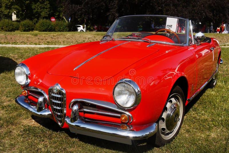 Alfa Romeo Giulietta, carros icônicos do vintage fotografia de stock royalty free