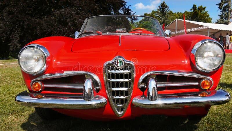 Alfa Romeo Giulietta, carros icônicos do vintage foto de stock