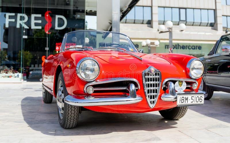 Alfa Romeo Giulietta Spider de 1961 imagens de stock