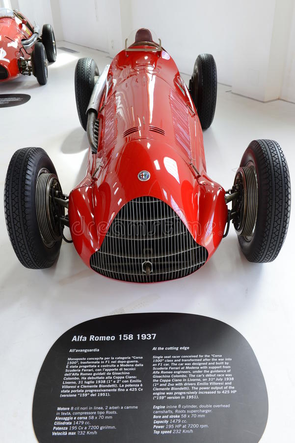 Alfa Romeo 159 m-monoposto Rennwagen lizenzfreies stockfoto
