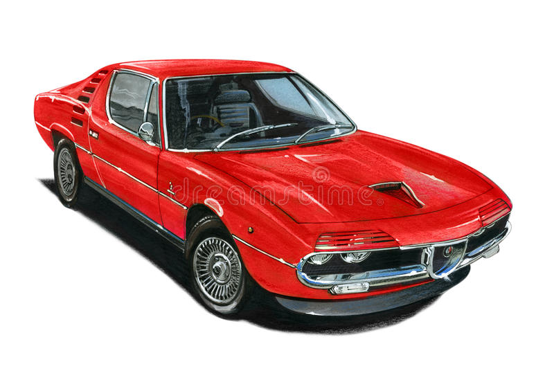 Alfa Romeo Montreal vector illustration