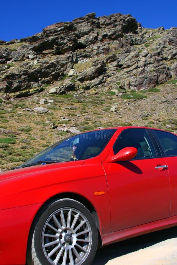 Alfa Romeo op Siërra Nevada, Spanje stock foto's