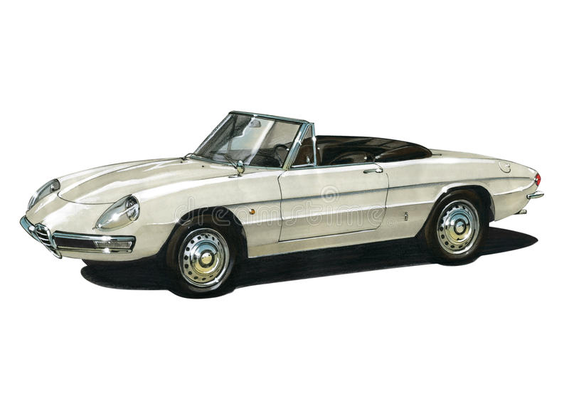 Alfa Romeo Spider royalty free illustration