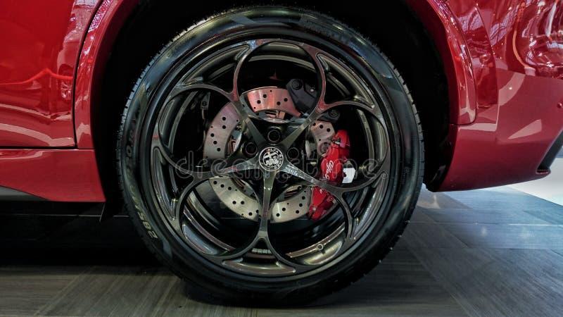 Alfa Romeo Stelvio koło fotografia royalty free