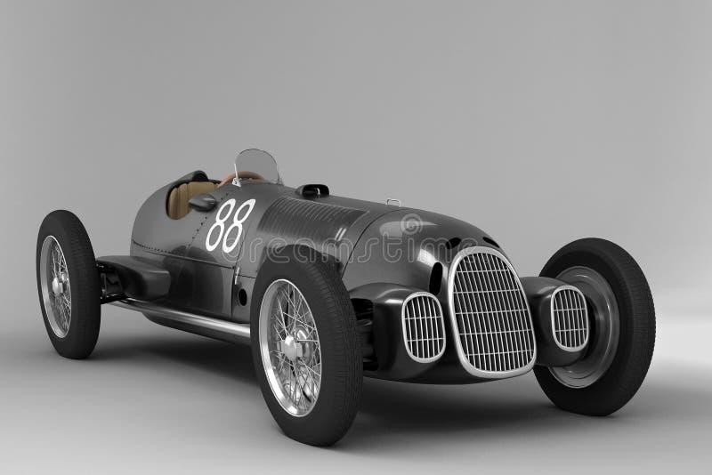 Alfa Romeo vieux - noir illustration de vecteur