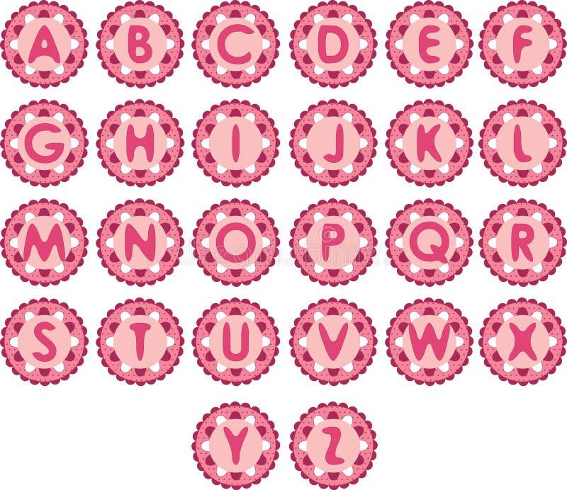 Alfa rosada linda stock de ilustración