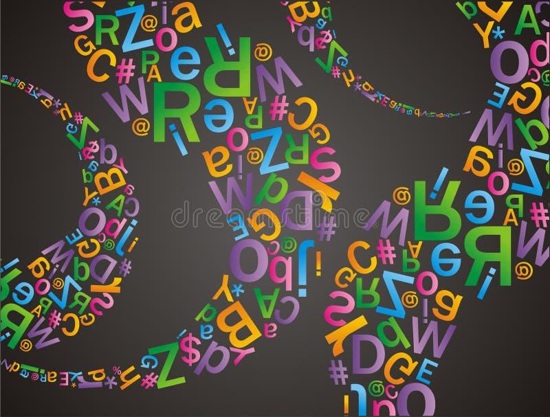 Alfabet样式 向量例证