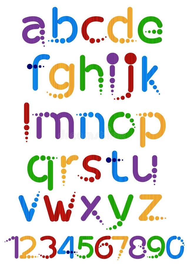 Alfabet vektor illustrationer