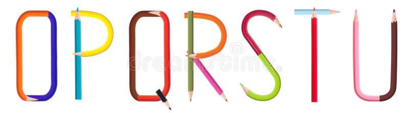 Alfabet 3/4 van het potlood stock afbeeldingen