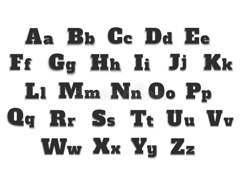 Alfabet stock illustratie