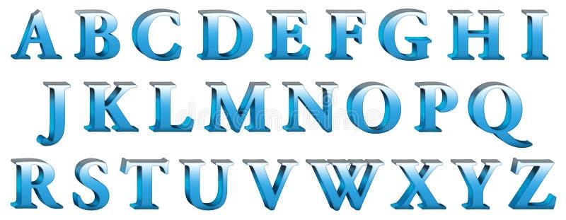 alfabet 3d royaltyfri illustrationer
