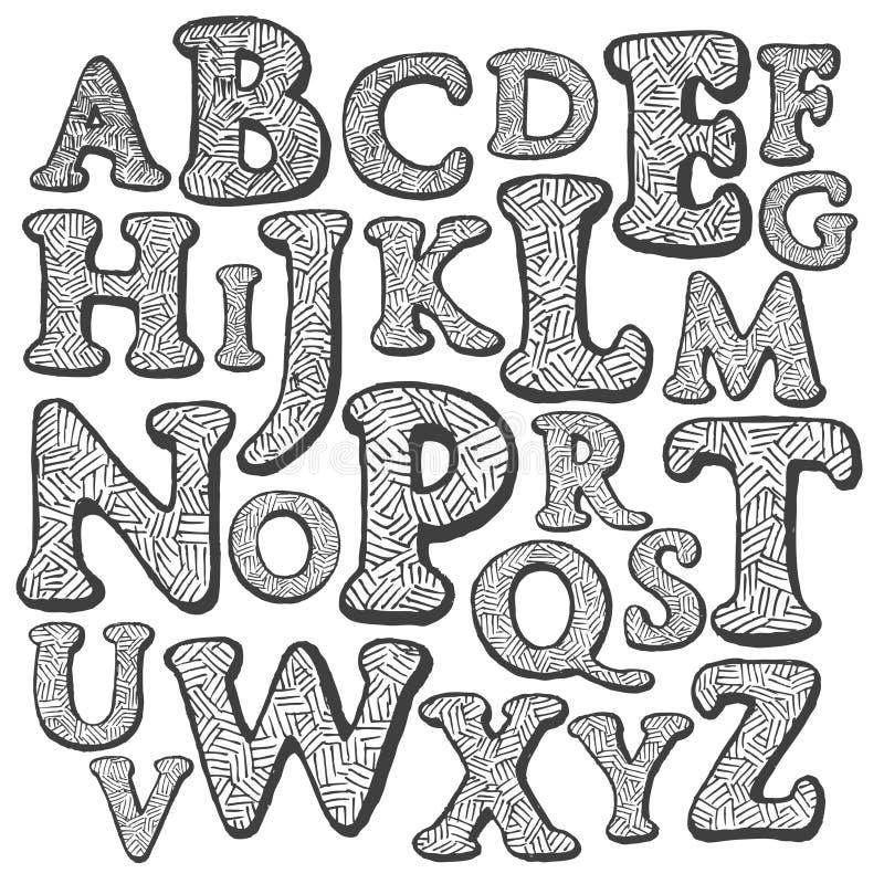 alfabet royaltyfri illustrationer