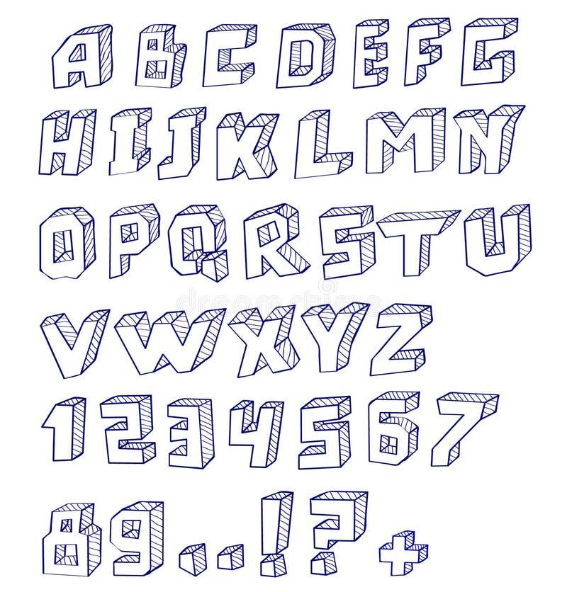 Alfabet vector illustratie