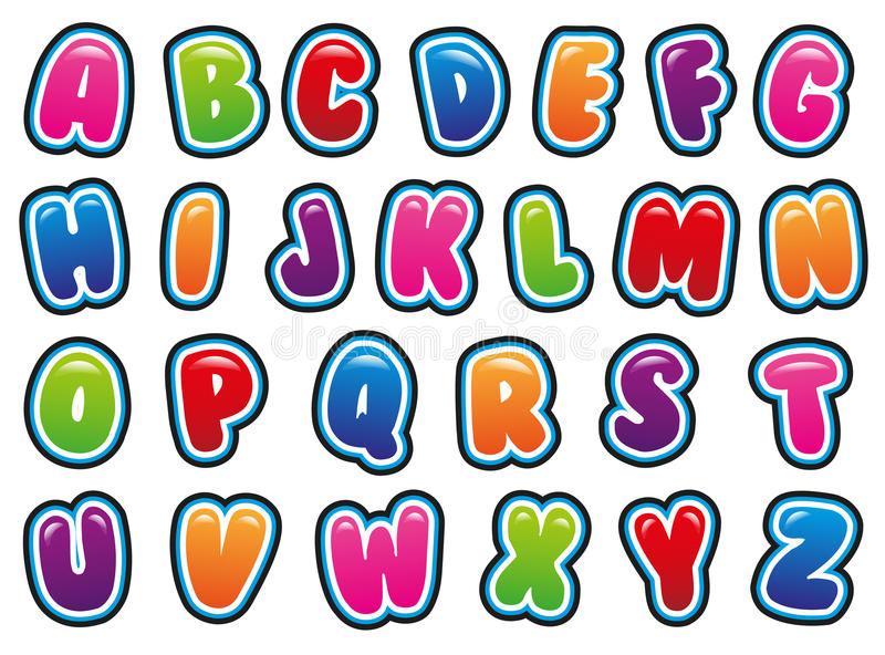 alfabet ilustracja wektor