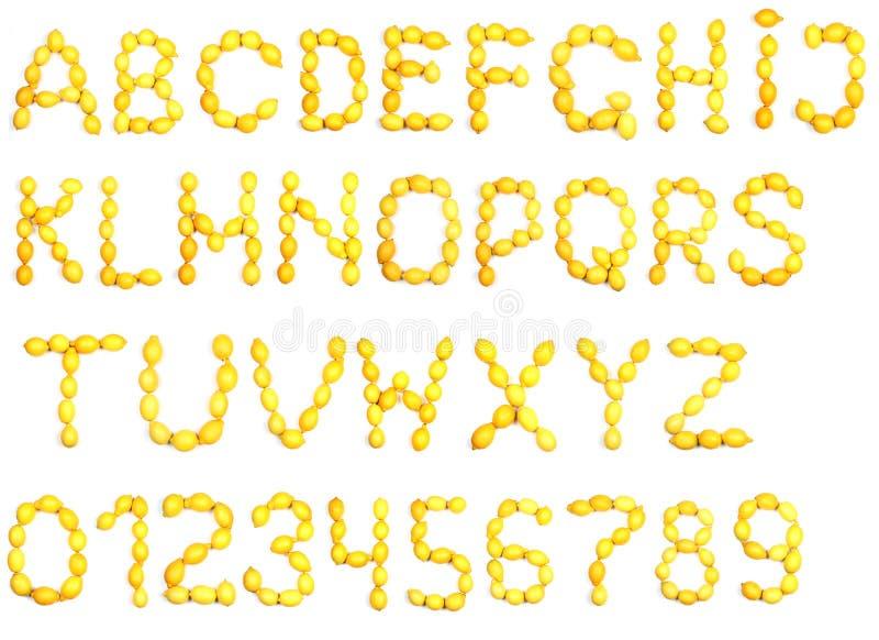 Download Alfabet av citronen arkivfoto. Bild av livsmedelsbutik - 37344350