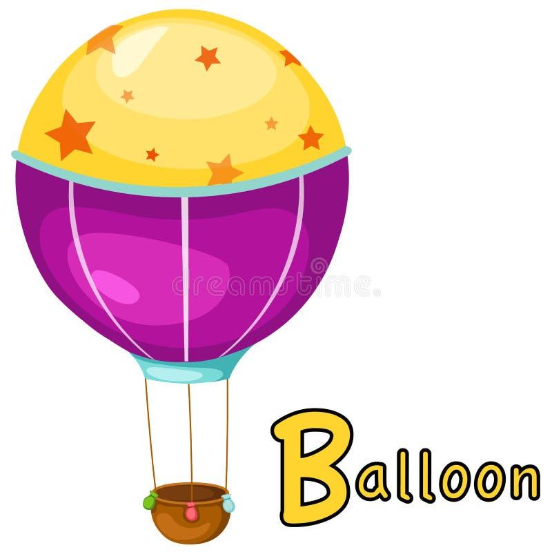 Alfabet B voor ballon vector illustratie