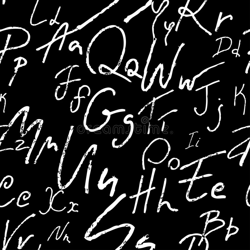 Download Alfabet bezszwowy ilustracja wektor. Obraz złożonej z manuskrypt - 5562950