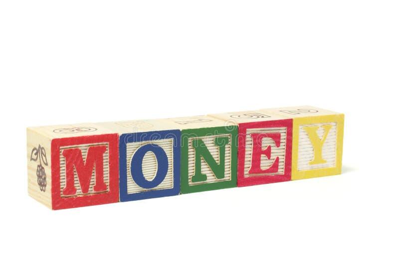 alfabet blokuje pieniądze zdjęcie stock