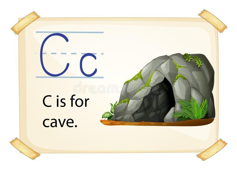 Alfabet C royalty-vrije illustratie