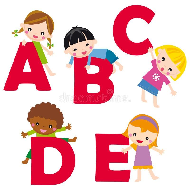 alfabet. e ilustracja wektor