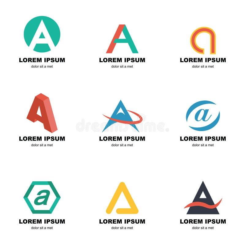 Alfabet een embleem stock illustratie