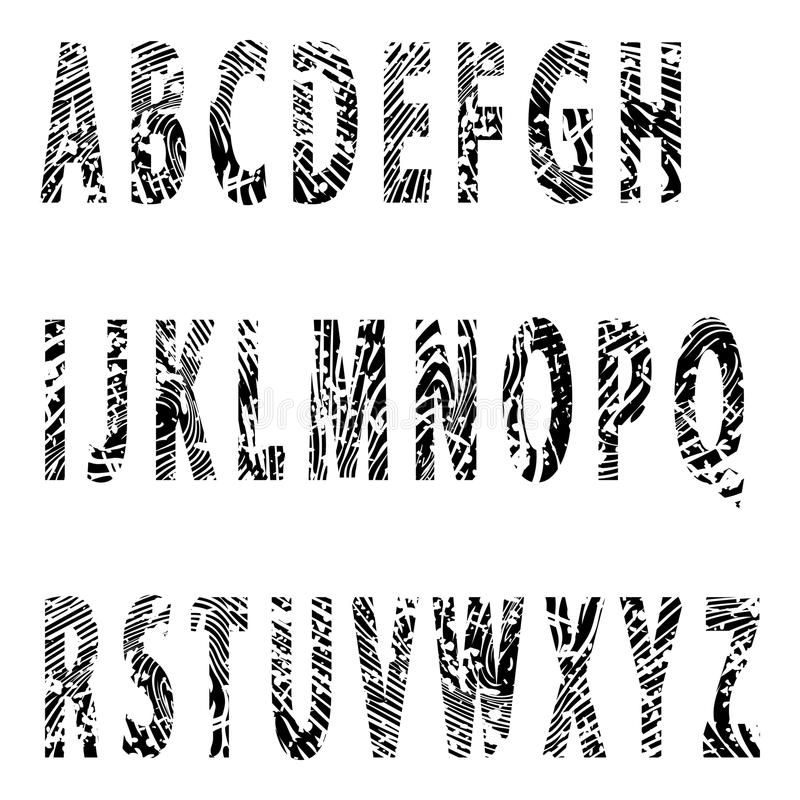 Alfabet-Entlastungsbuchstabe lizenzfreie abbildung