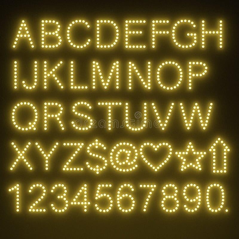 Alfabet för ljus kula royaltyfri illustrationer