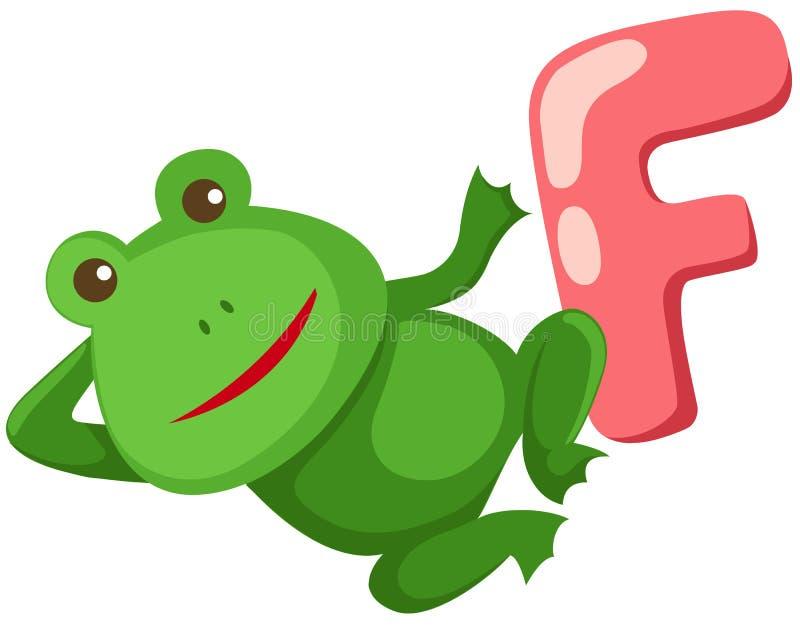 Alfabet F voor kikker royalty-vrije illustratie