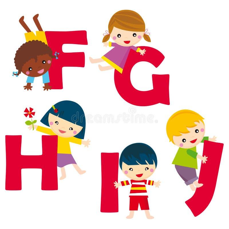 alfabet FJ vector illustratie