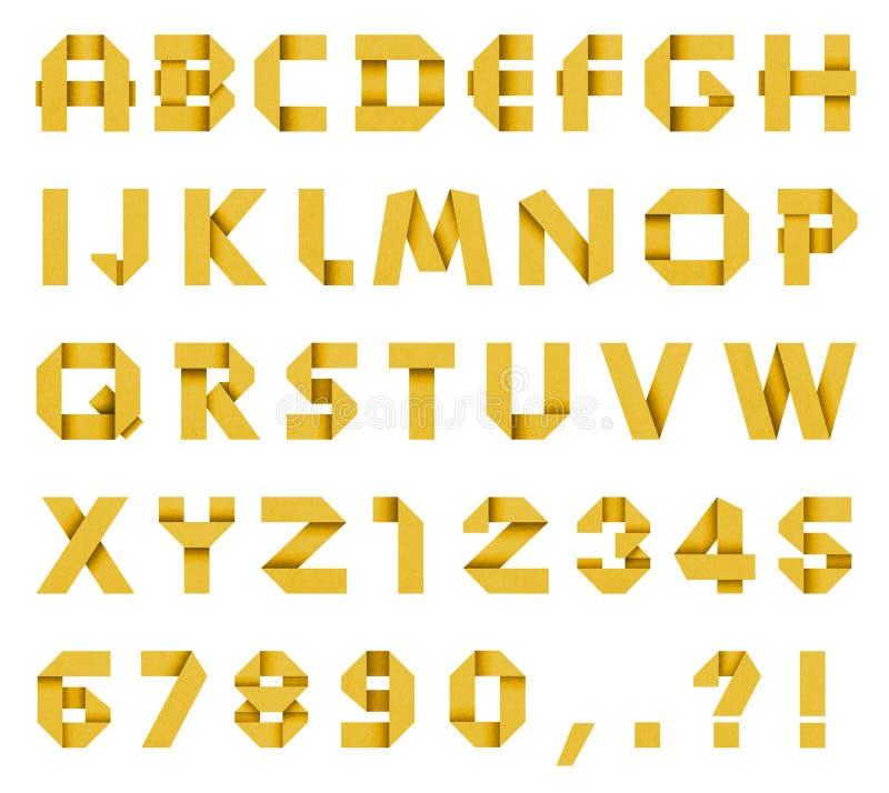 Alfabet från kulört papper royaltyfri foto