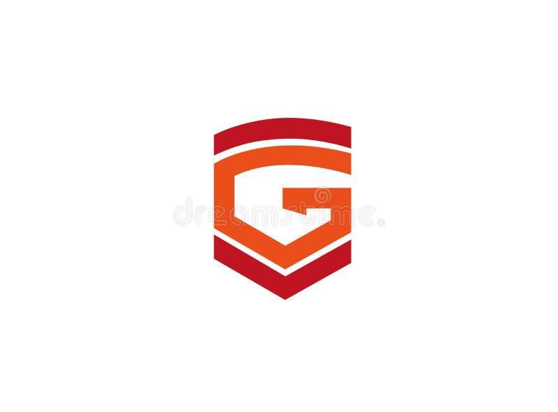 Alfabet G een brief en symbolen voor embleem royalty-vrije illustratie