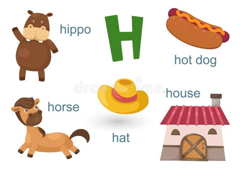 Alfabet H stock illustratie