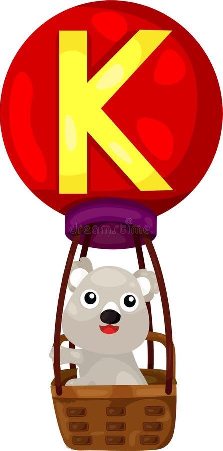 Alfabet K voor koala royalty-vrije illustratie