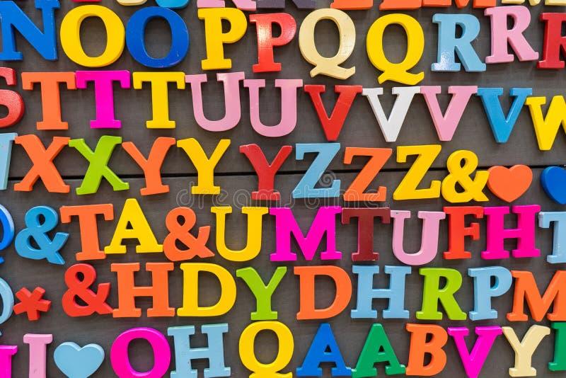 Alfabet kleurrijk ontwerp stock foto