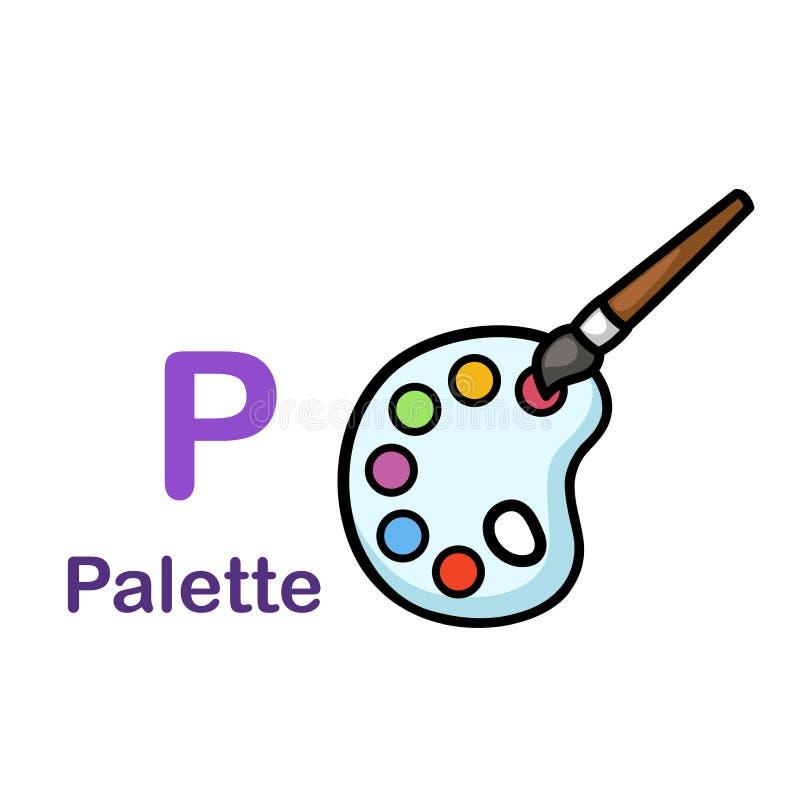 Alfabet Letter P-Palette royalty-vrije illustratie