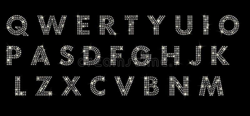 Alfabet met diamanten royalty-vrije stock fotografie