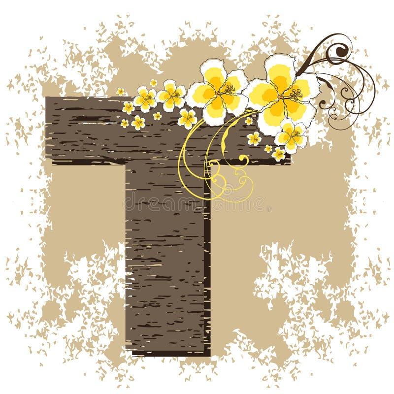 alfabet poślubnika żółty t ilustracja wektor