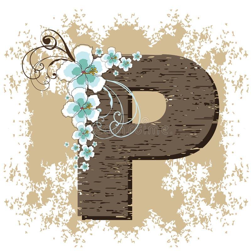 alfabet poślubnika niebieski rocznego p ilustracji